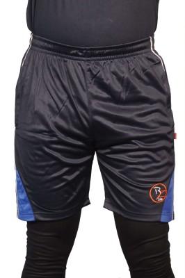 Bleedz Life Solid Men & Women Blue Basic Shorts at flipkart
