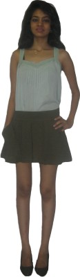 CARMINO CASUALS Solid Women's Dark Green Baggy Shorts