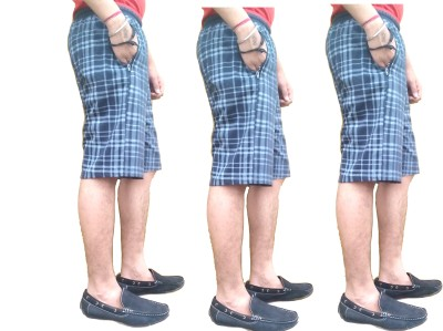eultra Checkered Men's Multicolor Basic Shorts