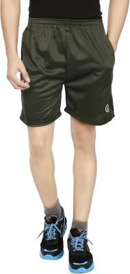 Forever19 Solid Men's Dark Green Basic Shorts