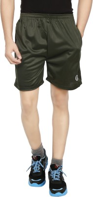 Fashion Flag Solid Men's Dark Green Basic Shorts