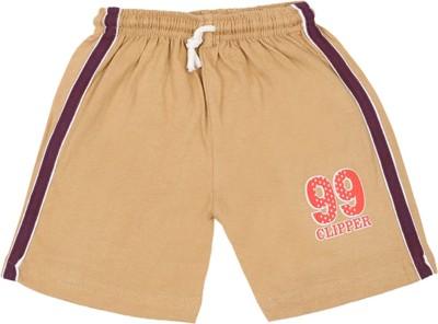 Rishan Solid Boy's Beige Basic Shorts