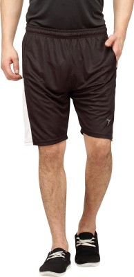 Campus Sutra Solid Men's Black Sports Shorts