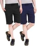 Nicewear Solid Men's Black, Blue Basic S...