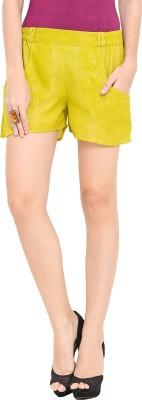 Trend Arrest Solid Women's Light Green Basic Shorts