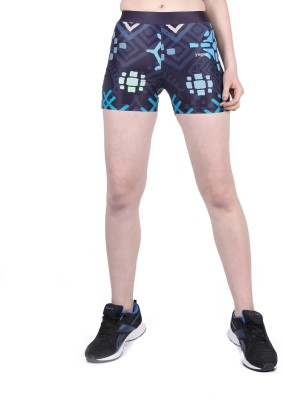 Yogue Printed Women's Blue, Light Blue Gym Shorts