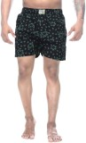 Clickroo Printed Men's Black Boxer Short...