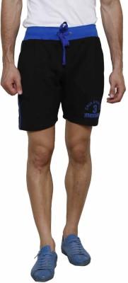 Gen Self Design Men's Black Basic Shorts