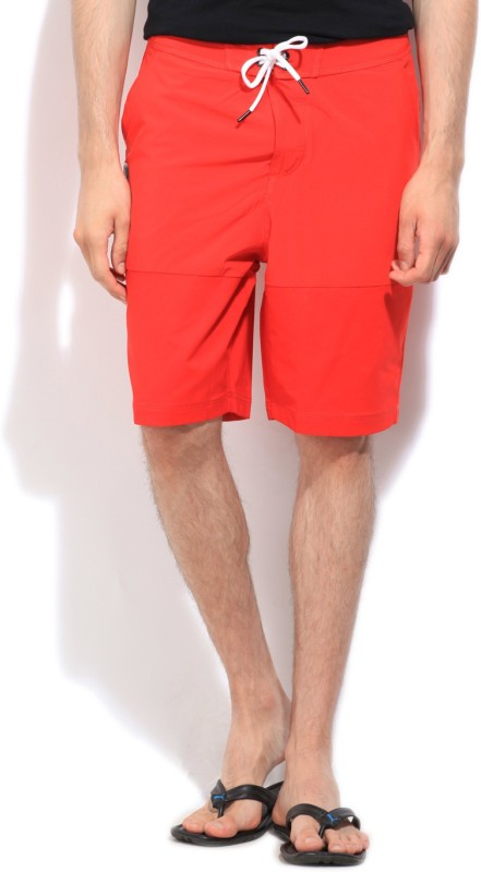 Puma Solid Men's Red Sports Shorts