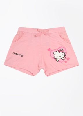Hello Kitty Printed Girl's Pink Basic Shorts