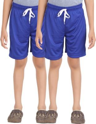 Lyril Solid Boy's Dark Blue Basic Shorts