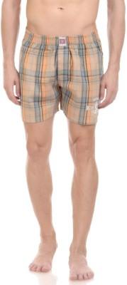 California Club Checkered Men's Brown Boxer Shorts