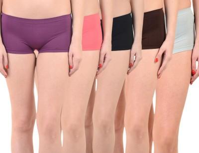 Mynte Solid Women's Purple, Red, Black, Brown, Blue Cycling Shorts, Gym Shorts, Swim Shorts