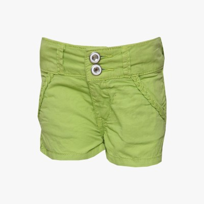 Tales & Stories Solid Baby Girl,s Denim Green Basic Shorts