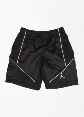 Jordan Kids Self Design Boy's Black Sports Shorts