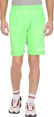 GUTS N GLORY Printed Men's Light Green Sports Shorts