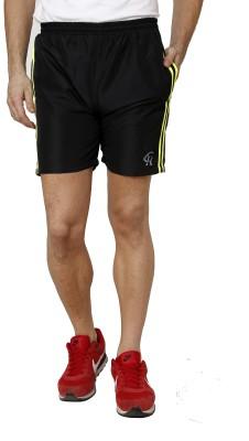 Crux&Hunter Solid Men's Black Gym Shorts