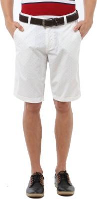 Van Heusen Printed Men's White Basic Shorts