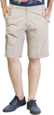 Seaboard Solid Men's Grey Cargo Shorts