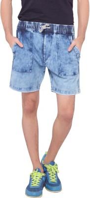 LUCfashion Solid Men's Blue Sports Shorts