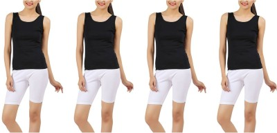 Kidley Solid Women's White Cycling Shorts