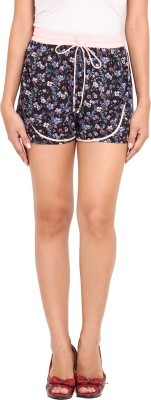 Ama Bella Printed Women's Multicolor Basic Shorts