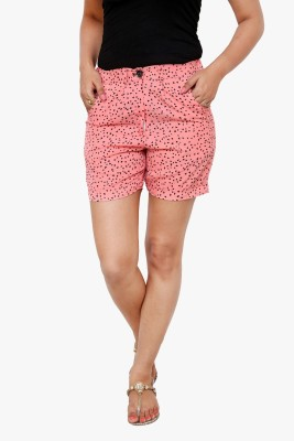 Alba Geometric Print Women's Multicolor Basic Shorts
