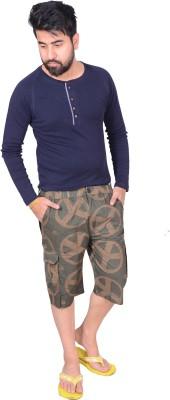 Zrestha Printed Men's Brown Basic Shorts