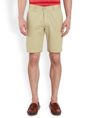 Park Avenue Solid Men's Beige Basic Shorts