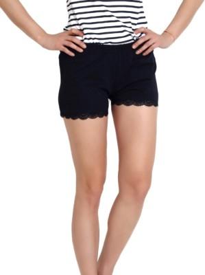 Slumber Jill Solid Women's Blue Basic Shorts