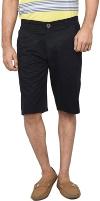 Clickroo Solid Men's Black Chino Shorts