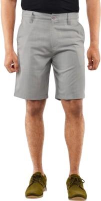 Blue Wave Checkered Men's Grey Basic Shorts