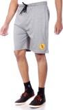 Shootr Solid Men's Grey Bermuda Shorts