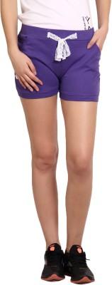 Yogaandsportswear Solid Women's Purple Basic Shorts