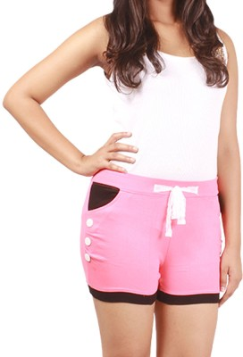 Softwear Solid Women's Pink Basic Shorts