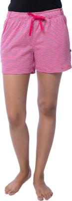 Nite Flite Striped Women's Pink, White Night Shorts