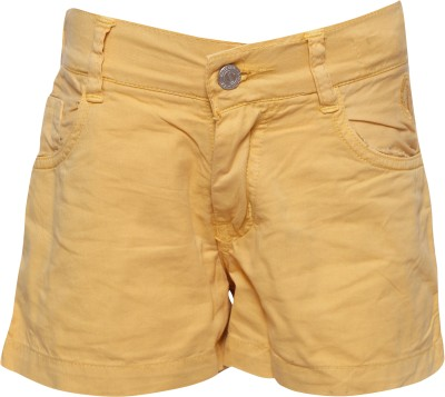 Joshua Tree Solid Girl's Yellow Hotpants