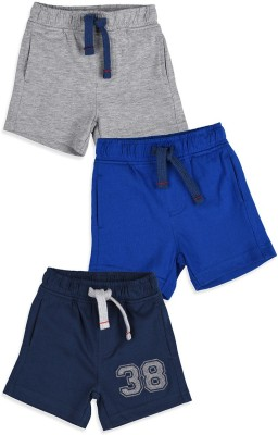 Mothercare Solid Baby Boy's Grey, Blue Basic Shorts