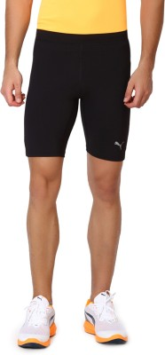 Puma Solid Mens Black Basic Shorts