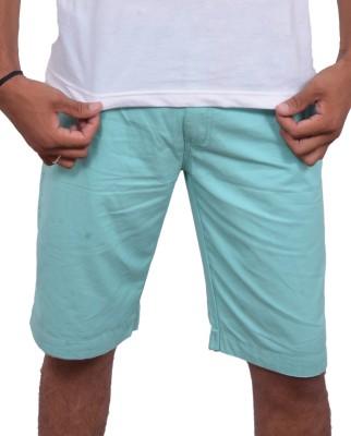 Fak Solid Men's Green Chino Shorts