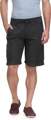 Global Nomad Solid Men's Grey Cargo Shorts