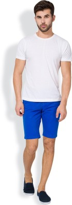 The Indian Garage Co. Solid Men's Blue Chino Shorts