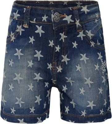 FS Mini Klub Woven Girl's Blue Denim Shorts