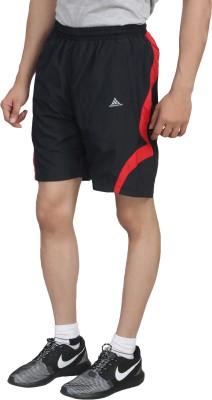 Hannspree Solid Men's Black, Red Gym Shorts
