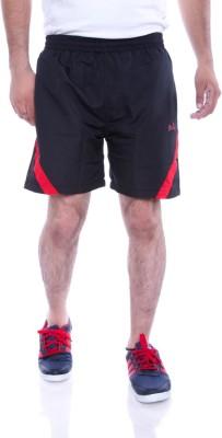 Choice4U Solid Men's Black, Red Sports Shorts