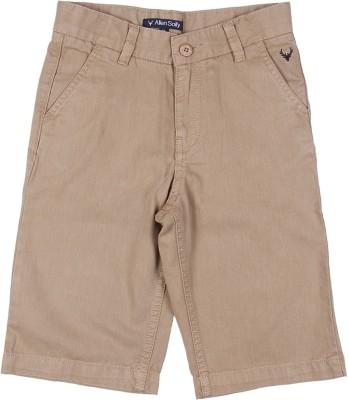 Allen Solly Solid Boy's Beige Basic Shorts