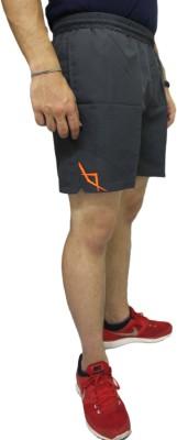 SPINART Self Design Men's Grey Running Shorts, Gym Shorts, Sports Shorts