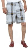 Sapper Checkered Men's Grey Gym Shorts