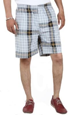 Sapper Checkered Men's Grey Gym Shorts