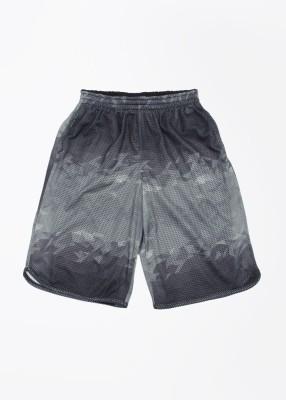 Jordan Kids Self Design Boy's Black, Grey Sports Shorts